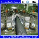 Máquina plástica acanalada del estirador del tubo de la pared de un sólo recinto y doble de PA/PE/PP/PVC