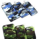 Het uiterst dunne Geval van het Leer van de Camouflage Zachte Pu voor iPhone 7