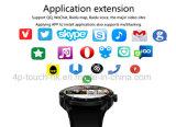 deporte 3gwifi/teléfono elegante del reloj de Bluetooth con el monitor K89h del ritmo cardíaco