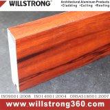 Aluminiumstrangpresßling-Decke in der hölzernen Farbe