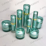 New Arrival Cosmetic Packaging Green Acrylic Cream Jar Garrafa (PPC-CPS-058)
