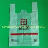 L'impression personnalisée gilet en plastique T-shirt avec logo sac