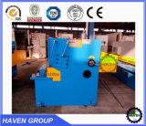 Chapa de aço máquina de cisalhamento do feixe de giro hidráulico