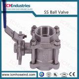 Válvula de Esfera de 3 peças de aço inoxidável 304 PORTA COMPLETA