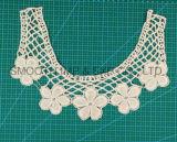Мода вышивка дизайн хлопка Guipure спицы кружевной воротник ткань одежды