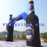 Drank die Opblaasbare Boog/de Opblaasbare Boog van de Bevordering adverteert