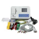 Máquina de ECG de reposição de 3 canais com 3 canais com software para PC Eletrocardiógrafo digital de 3,5 polegadas EKG-903BS com Ce ISO Certified-Candice