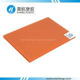 Placa plástica de bronze de Sun do PC do policarbonato da Gêmeo-Parede