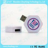 Vara plástica do USB do hexágono do giro do logotipo da abóbada (ZYF1288)