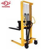 Handgabelstapler-hydraulische Ladeplatten-manueller Ablagefach-Preis 1 Tonnen-1.6m