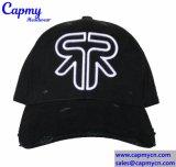 Neue Art gewaschener kundenspezifischer Vati-Schutzkappe Strapback Hut-Lieferant