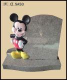 Headstone nero del granito, prezzo Polished del Headstone del bambino per il cimitero commemorativo