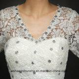 Новое прибытие шнурует Princess Невесту Одевать Bridal Мантию платья венчания