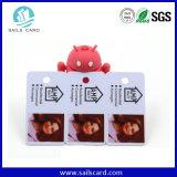 Carte en plastique bon marché de code barres du marché en gros de la Chine/carte de cadeau