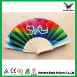 L'impression de pliage de la main en plastique coloré ventilateur comme cadeau promotionnel