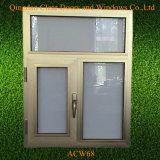 電気泳動のシャンペンカラー単一の窓ガラスの入り口のアルミニウム建築材料Windows
