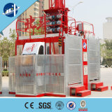 Único elevador do elevador da construção da gaiola/grua da construção