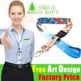 Multi-Color Printed Polyester Satin Lanyard для значка Holder удостоверения личности Card
