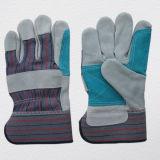Зеленый коровы Split кожаные перчатки-3060.05 Palm работы