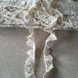 綿は衣服のアクセサリのためのレース2.5cmを波立たせる