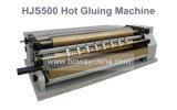 Livre de papier de chauffage thermique de Boway Hjs500 collant la machine chaude de colle de roulis de fonte de roulis