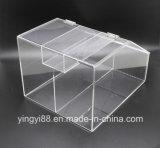 쉬운 서빙을%s 경첩을 단 문을%s 가진 도매 아크릴 쌓을수 있는 사탕 상자