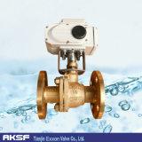 ANSI / JIS / DIN Válvula de esfera de flange flutuante Bronze / Brass em alumínio