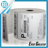 Étiquette adhésive d'impression pure blanc de couleur de production en masse pas