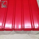 Feuille ondulée galvanisée de toiture enduite par couleur en métal de PPGI