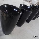 新しく黒い固体表面の支えがない洗浄軸受け洗面器