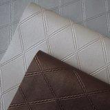 Cuoio quadrato del PVC di struttura per la decorazione dell'hotel della villa del coperchio della parete