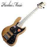 Guitare basse électrique de musique de Hanhai/5 chaînes de caractères avec Pickguard noir