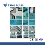 O vidro temperado com furos, bordas polidas, Impressão tampografia, tamanhos de corte