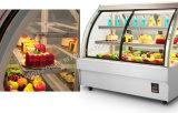 En ángulo recto de expositor refrigerado para tartas de estilo europeo Multi-Deck refrigerador