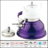 3L + 0.75L Chaleira de Whistle Duplo com Chaleira de Chá Cerâmica Chaleira Multifuncional