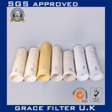 Nomex antiabrasión colector de polvo del filtro de bolsa para la industria del cemento