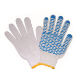 Gants fonctionnants de Mechinical de gants de coton de POINT de PVC de prix bas