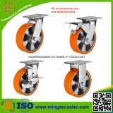 4inch zum industriellen Verlegenheit 8inch PU-Fußrollen-Rad