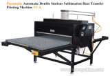 Stampatrice automatica pneumatica della stampante della pressa di scambio di calore di sublimazione della maglietta delle stazioni della base 2 di ampio formato