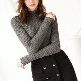 2018人の新しい着かれた女性の毛織のセーターの長い袖OEMの工場