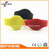 faixa de pulso do projeto RFID da forma com logotipo e tamanho personalizados