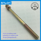 Yellow Zinc Long Sizes Hex Cape Sems Screw Assembled has Plain Washer Spring Washer