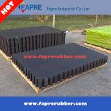 Plancher de stalle de natte de matelas de vache/natte inférieurs cannelés par compartiment en caoutchouc de stalle