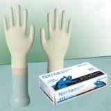 Напудренные свободно перчатки экзамена нитрила (NGBL-PFM5.0)