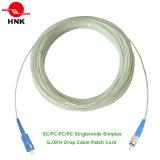 FC/PC - Koord van het Flard van de Kabel van de Daling van de Vezel van het Type SC/PC GJXFH het Optische