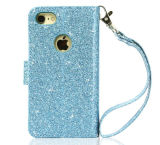 Dama Bling PU Teléfono Monedero de cuero para iPhone 7