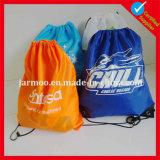Nylon de promotion de gros sac avec lacet de serrage