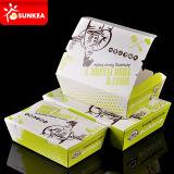Aislado chino de papel desechable Caja de comida caliente