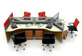 Рабочая станция перегородки офиса Seater способа 6 прямая с ногами металла (HF-YZ033)