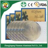 Feuille en aluminium de haute qualité Shisha Feuille personnalisée